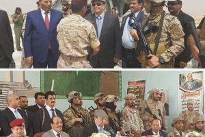 عبدربه منصور هادي وعلي محسن الأحمر يصلان إلى مأرب في زيارة مفاجئة