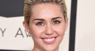 Miley Cyrus arrives at the 57th annual Grammy Awards at the Staples Center on Sunday, Feb. 8, 2015, in Los Angeles. (Photo by Jordan Strauss/Invision/AP)