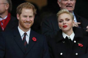 الأمير هاري يحضر مباراة للركبي مع اميرة موناكو