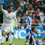 اهدافمباراة ريال مدريد وديبورتيفو لاكورونا اليوم وملخص نتيجة لقاء الميرينجي فيالدوري الاسباني بالسداسية
