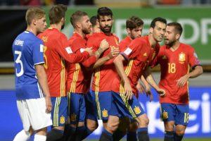 اهدافمباراة اسبانيا وليشتنشتاين اليوم 05-09-2017وملخص نتيجة لقاء الماتادور في تصفيات كأس العالم