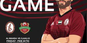 مباراة الوحدة وشباب الأهلي دبي