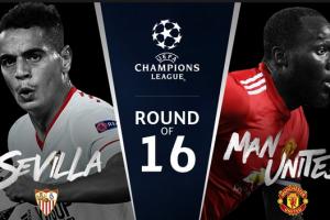 نتيجة مباراة مانشستر يونايتد واشبيلية اليوم الاربعاء 21 فبراير شباط وملخص نتيجة لقاء دوري ابطال اوروبا 21-2-2018