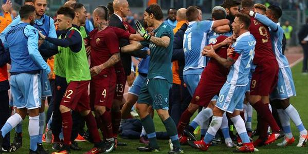 نتيجة مباراة روما ولاتسيو اليوم الاحد 15 ابريل 2018 وملخص نتيجة لقاء الدوري الايطالي 15-4-2018