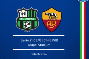 اهداف مباراة روما وساسولو اليوم الاحد 20 مايو 2018 وملخص نتيجة لقاء الدوري الايطالي 20-5-2018