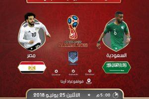 اهداف مباراة السعودية ومصر اليوم الاثنين 25 يونيو 2018 وملخص نتيجة لقاء كأس العالم 25-6-2018