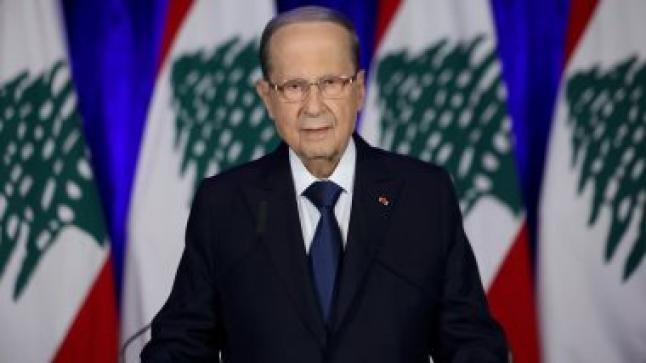 """"""" الرئيس اللبناني"""" يدعو المجتمع الدولي بالوقوف بجانب بلاده"""