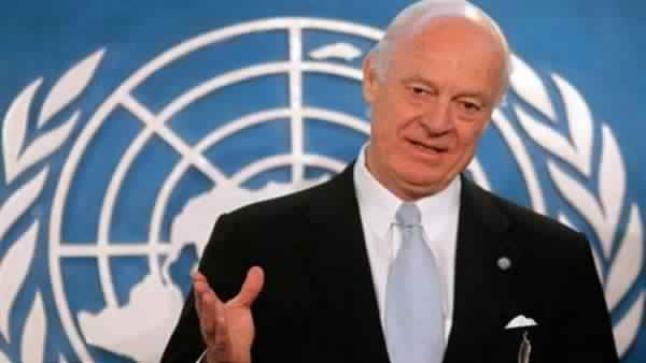مبعوث الأمم المتحدة الخاص لسوريا يتطلع إلى إستئناف محادثات السلام الشهر القادم