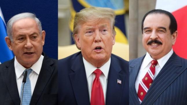 """""""ترامب"""" يعلن تفاصيل توصل البحرين واسرائيل لاتفاق سلام وتبادل العلاقات بين البلدين"""