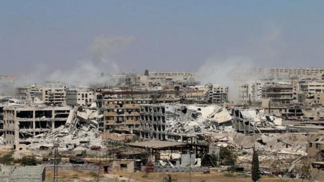 القوات الحكومية تقصف مناطق المعارضة المسلحة في حلب لقطع ممرات الإمدادات المتبقية